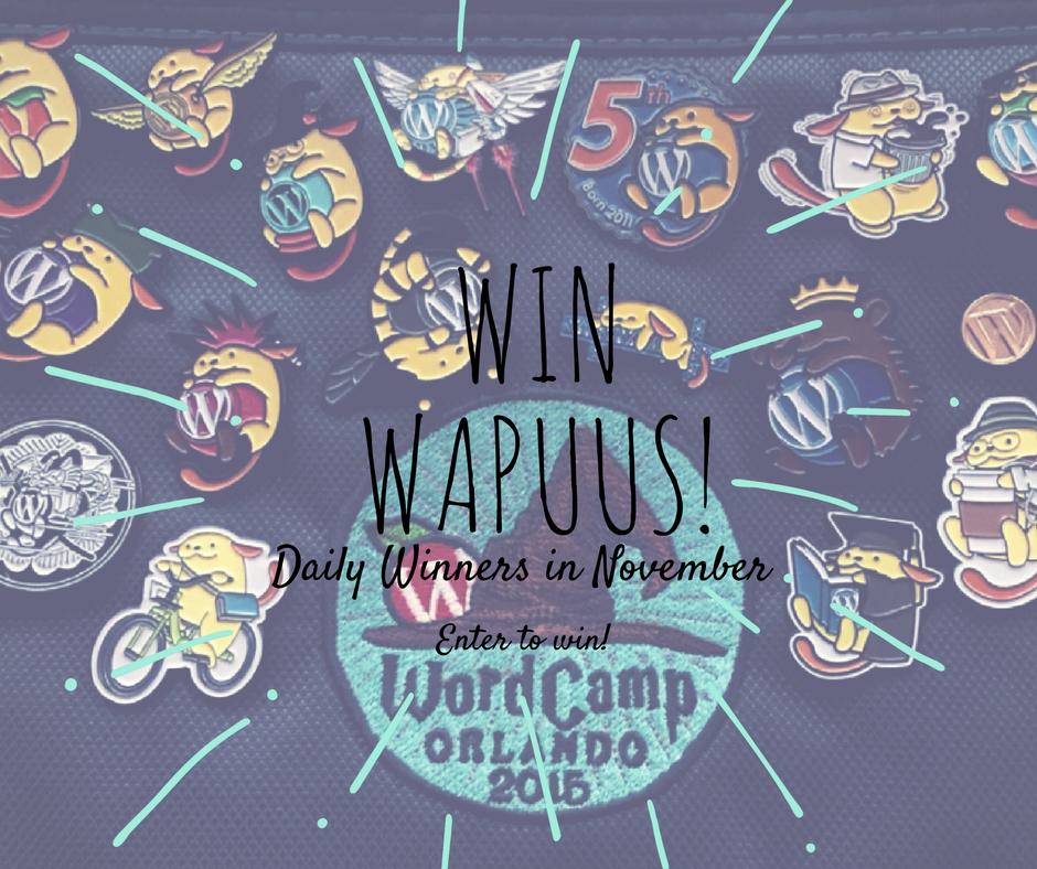 Win Wapuus, Daily winners in November.