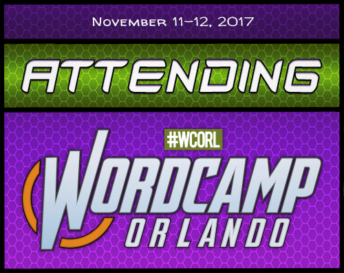 Attending WordCamp Orlando 2017 Badge
