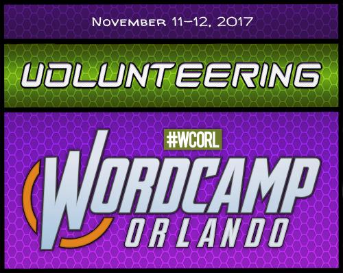 Volunteering WordCamp Orlando 2017 Badge