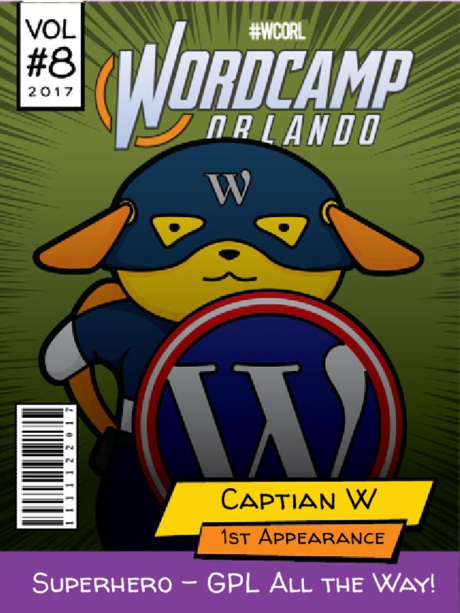 Caption W Wapuu comic cover