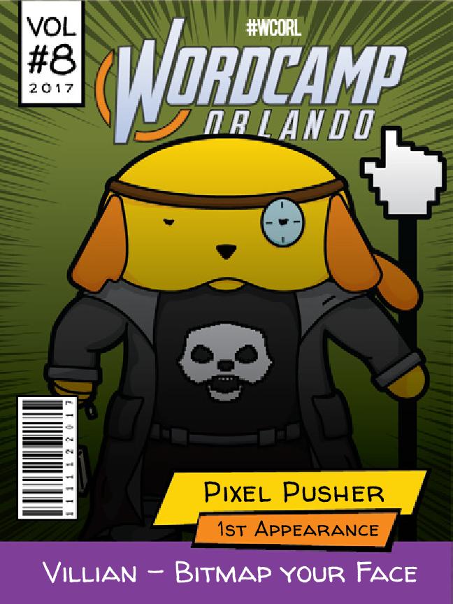 Pixel Pusher Wapuu comic cover
