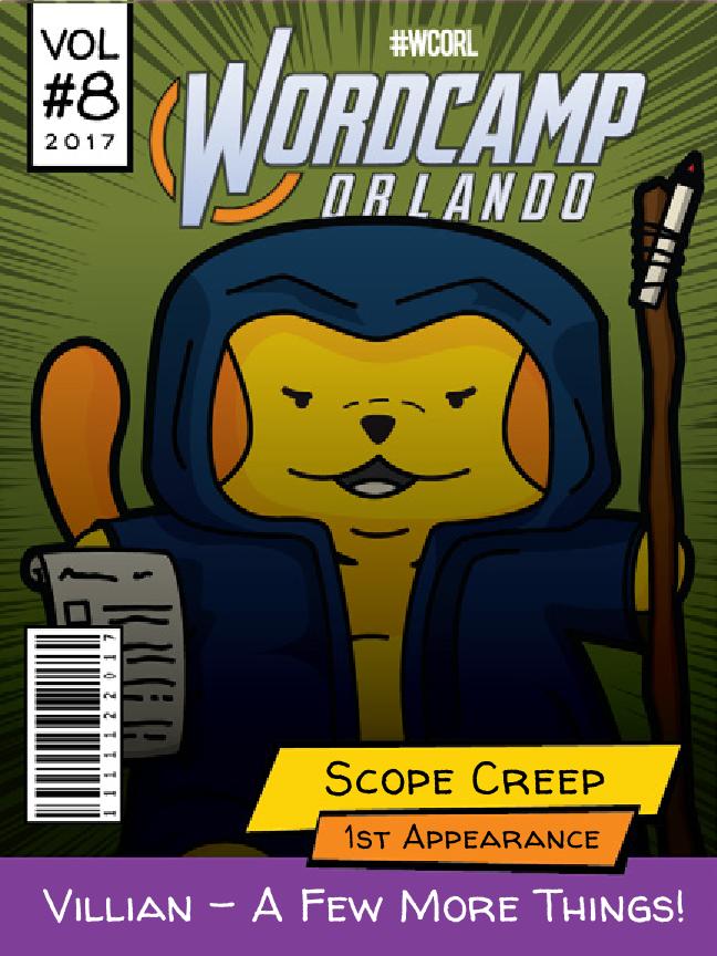 Scope Creep Wapuu comic cover